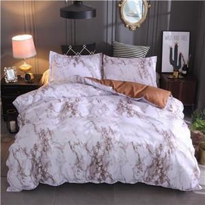 Печатный мрамор комплект постельных принадлежностей белый черный пододеяльник Король Королева размер пододеяльник краткое постельное белье одеяло крышка 3шт