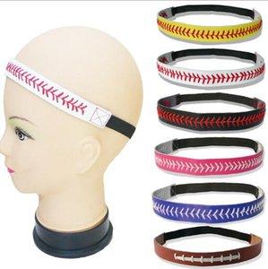 5 pz / lotto Nuovo Hand-woven cinturino in vera pelle Boho Hair Head Wraps Accessori No slip sport yoga Hairband Fasce