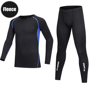 Long Sleeve Athletic Base Layer Compression Kids Clothing Underwear Shirt & Tights Set