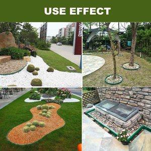 Plastic 10m Grass Edging Fence Belt Border Garden Lawn Stone Isolation Path Barrier Garden Patio Greening Belt Horticulture