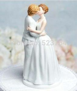 """Romance"" Gay Lesbian Wedding Cake Topper"