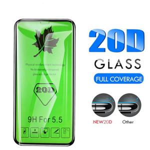 20D aresta curvada cobertura completa de vidro protetora para iPhone 11 Pro Max Xs Xr X temperado protetor de tela para iPhone 7 8 Plus 6s 6 Vidro Film