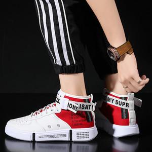 NAUSK обувь мужчин кроссовки Ультра Усиливает Большой размер 39-46 Justin Bieber Men Boots суперзвезда хип-хоп обувь мужская High Top Обувь Casual