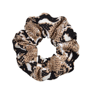 Leopard Striped Scrunchy Hairbands Women Dot Elastic Hair Bands Rubber Ponytail Holder Rope Ties Girls Fashion Hair Accessories GGA3227-6