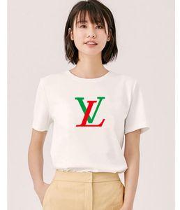 Preto e top branco espelho mágico Lantejoula T-shirt das mulheres impressão de manga curta T-shirt de lazer Europeia e algodão fino vestuário shir americano