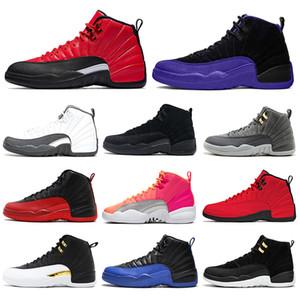 nike air jordan retro 12 Оптовая тренажерный зал Red Bulls 12 12s мужская баскетбольная обувь Мичиган UNC мастер Бордо такси PSNY плей-офф спортивный дизайнер кроссовки размер 7-13