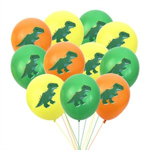 100Pcs 12Inch Cartoon-Dinosaurier-Serie Latex-Ballon-Geburtstags-Party-Babyparty-Kind-Partei-Dekoration Supplies