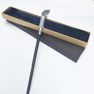 Новейший металлический стержень новейший качество Делюкс Гарри Поттер Люциус Малфой волшебная палочка/палочка с подарочной коробке упаковки J190427