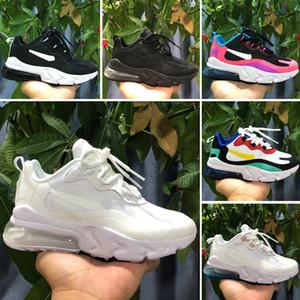 Nike Air Max 270 React Designer Off 27 Kinder Laufschuhe Für Jungen Mädchen Baby Kinder steigern Schwarz Blau Grau Air 27S Casual Sportschuhe Eur28-35