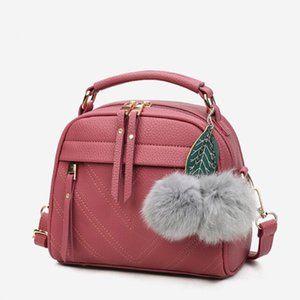 2020 New Fashion PU Leather Handbag for Women Girl Messenger Bags with Ball Toy Bolsa Female Shoulder Bags Ladies Party Handbags K330G