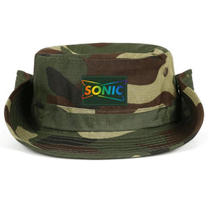 Fashionable Sonic Drive In America Gay Pride Rainbow Neutral Foldable Fisherman Hat Design Classic Cowboy cap Flash Gold Logo