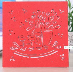 Hollow Invitation Card Double Sided Greeting Cards accessori per la casa di carta creativo Pearl Wedding Decorare Altri colori caldi di vendite 0 55ypC1