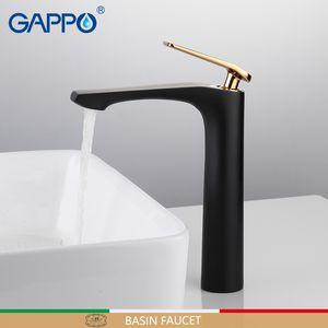 GAPPO حوض الحنفيات أسود حوض خلاط صنبور للحمام بالوعة الحنفيات تل الشلال حمام صنبور خلاط صنبور torneira tapware