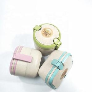 Frischhaltung Box Gesunde Weizenstroh Fiber Umweltfreundlich und vorrätig Oem Biodegradable Mikrowelle Lunchbox Bento Lunch Box