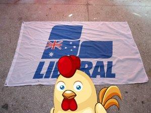 Bandera del logotipo de la marca liberal, bandera liberal, poliéster de tamaño 90X150 CM, 100% poliéster 90 * 150 cm, Impresión digital