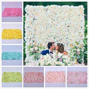 60 * 40cm 실크 꽃 벽 인공 말린 꽃 벽 배경 웨딩 파티 장식 꽃 호텔 배경 벽 장식 도로지도