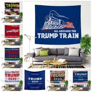 Trump 2020 tapisserie Gardez Amrican grande Tenture 150 * 130cm atout Train Couvre-lit de plage tapis de yoga serviette Châle Décoration murale LJJA3422-1