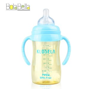 Bolabella Anti-colic PPSU BPA Free Baby Bottle Feeding For 0-36M Baby Mamadeira Learn Feeding Drinking Handle Kids Bottle water
