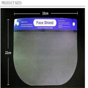 Rainbow Protective Face Shield Mask PET Clear Transparent Anti-fog Dust Protective mask Multi-Function Oil-Splash Proof Kids Face Shield