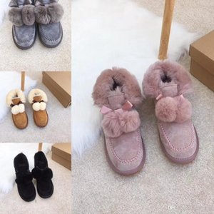 2019 fashion Australia Classic snow Boots High Quality Cheap women winter boots real leather Bailey Bowknot women's bailey bow snow boo