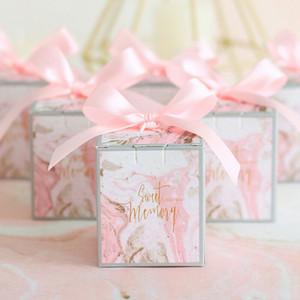 Коробка конфет с лентой Шоколадная коробка Подарочные коробки Свадебная сувенирная сумка Детский подарок на день рождения Свадебные сувениры и подарки