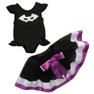 Летние маленькие девочки мультфильм Летучая мышь Pritned комплект одежды милые дети Baby Girl боди пачка юбка косплей одежда для вечеринок 0-3Y