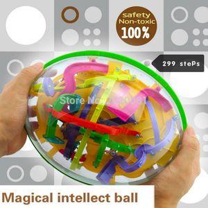 299خطوة كرة المتاهة ثلاثية الأبعاد لعبة فكرية سحرية لعبة تعليمية أطفال IQ Balance Logic Ability Y200413