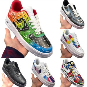 2020 AF1 Low Cut кожа скейтборд обуви Origials AF1 Low Top Buffer Rubber Встроенный зум воздуха Демпфирование спортивной обуви