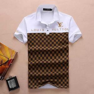 2019Spring İtalya Tee Tişört Polo Gömlek High Street Nakış Jartiyer Küçük Baskı Giyim Erkek Marka Polo S mens