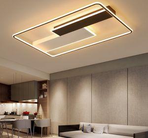 Modern Kare Led Avizeler LED Tavan Salon Yemek Odası Yatak Odası Lustres Fonksiyon Avize Aydınlatma Armatür için Lamba Işıklar