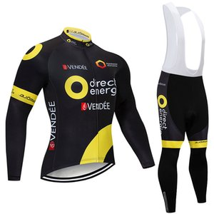 2019 Winter TEAM Direct thermal fleece Cycling JERSEY Bike Pants set mens 12D pads Ropa Ciclismo Cycling wear Maillot Culotte