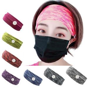 8 color de la máscara de la máscara Earloop impreso diadema del oído hebilla elástico venda del oído de la cuerda de seguridad Titular Deportes Las vendas Con JJ438 Botón