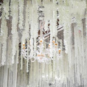 1M طويل الحرير الاصطناعي الزهور الوستارية فاين القش 19 الألوان وهمية زهرة الجدول القطع المركزية الزفاف الديكور حديقة جدار زهرة