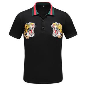 2020 homens retalhos de Luxo Europa Paris T-shirt Mens Fashion Designer T Shirt Casual Vestuário medusa Cotton Tee luxo polo