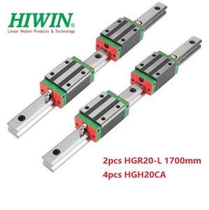 2 pz Originale Nuovo HIWIN HGR20 - 1700mm guida lineare / guida + 4 pz HGH20CA blocchi stretti lineari per parti del router di cnc
