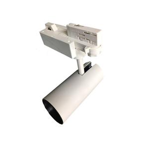 Schwarz Weiß 0-10V 1-10V 3-Leiter verstellbare LED-Shop-Schienenleuchte 15 Beam Angle Track Fixture für Akzentbeleuchtung
