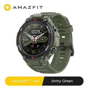 Original CES Amazfit T-rex Smartwatch Control Music 5ATM Smart Watch GPS GLONASS 20 Days Battery Life MIL-STD T-rex Smartwatch for Android