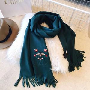 Маленькие пчелы модный бренд женщина шарфы кашемир смесь шарфы дизайнер леди 4 цвета вариант размер 200 * 70 см