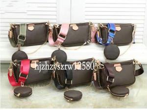 Femmes sacs à main sacs à main pochette préférée 3 pièces / jeu d'accessoires sac à bandoulière sacs à bandoulière concepteur Vintag m44823 en cuir oxydant
