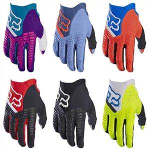 New FOX gants de course hors route gants de moto moto gants d'équitation plein doigt des hommes