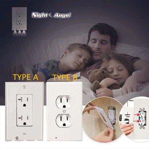 Подключите крышку LED Night Light PIR датчик движения тела Активированной безопасность Light Angel розетка Прихожая Спальня Ванной ночника