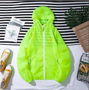 E14 2020 Men women Jacket Coat Sunscreen clothes Casual Mens Clothing Jackets Tops Hooded white Windbreaker Streetwear S-7XL free shipping