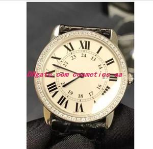 Relógios de luxo Presente de Natal Novo 36mm Pulseira De Couro Preto Unisex Watch W6701008 Homens Neutro Relógio De Quartzo Dos Homens