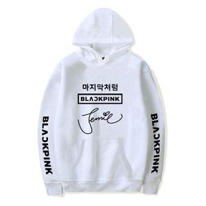 Sweat-shirt à capuche Kpop à capuche hiver coréen Blackpink Tide pour Homme / Femme blanc