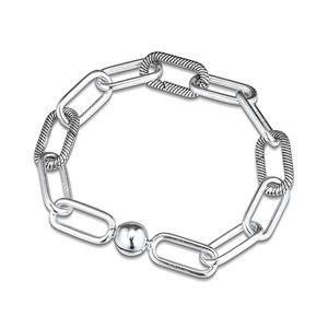 New Me Collection Bracelets Me Link Bracelet Fits Me Collection Dangle Charms 925 Sterling Silver Jewelry Woman Fashion Bracelet