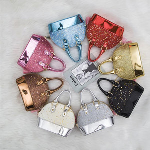 Baby Kids Purses Children Handbag Wallet Girls Glitter Sequin Small Bag Fashion Kid Shoulder Bag Baby Girl Party Metal Chain Bags