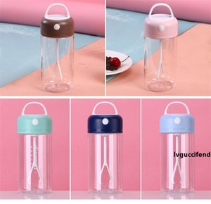 Protein Powder Shaker Bottle Sport Milkshake Shake Cup Outdoor Gym Camping Fitness Drink 380ml 3 Color