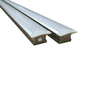 Led stripes için t şekli alüminyum profil derin Gömme Alüminyum kanallar Gömme gömülmüş montaj montaj klipleri vidalar Ch