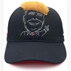 Boné de beisebol de cabelo amarelo Trump Moda Hat 2020 EUA Presidente chapéus de sol das mulheres dos homens do partido Presente engraçado do 15dk H1