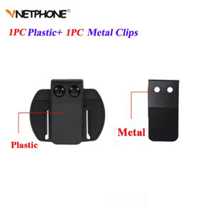 Clips de metal V6 + Junta de clip de soporte adecuados para V6 V4 intercomunicador de la motocicleta Interphone BT Bluetooth del casco de auriculares de intercomunicación